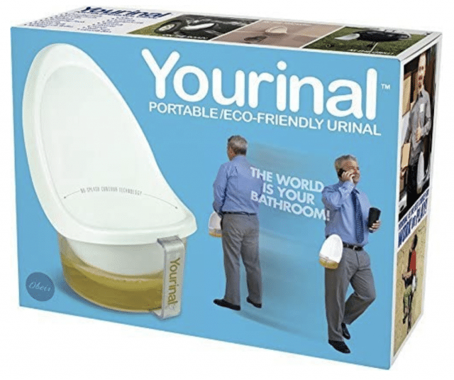 a yourinal personal urinal funny gag gift idea