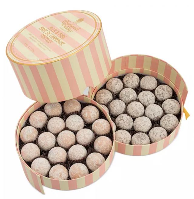 photo of a birthday gift box of truffles