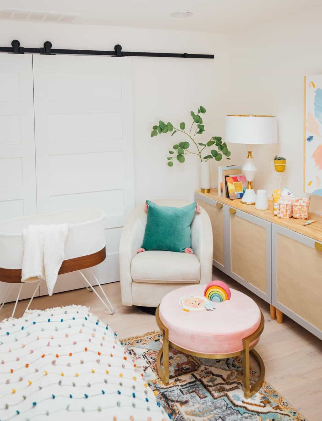 photo of a corner for newborn baby in bedroom
