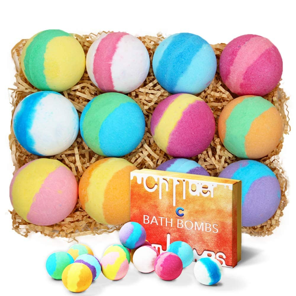 photo of colorful set of bath bombs