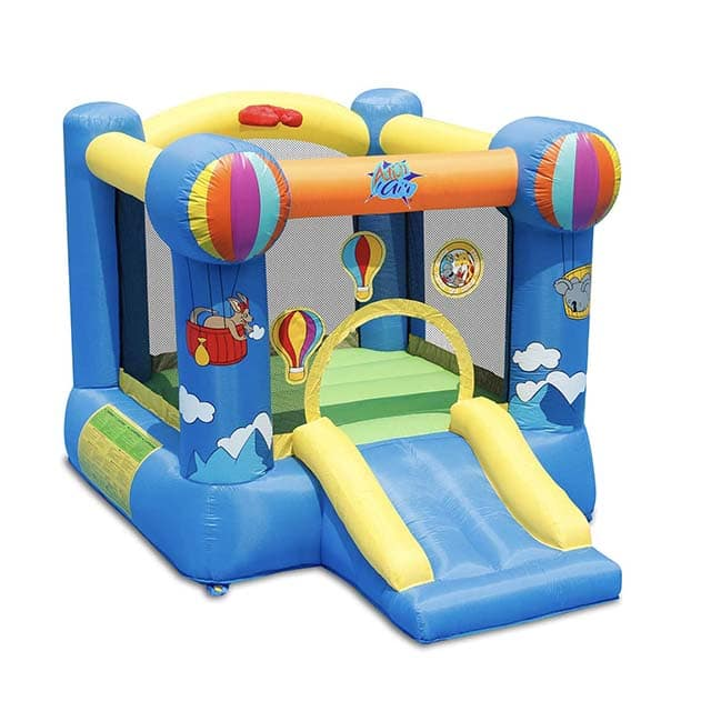 photo of a small kids bounce castle