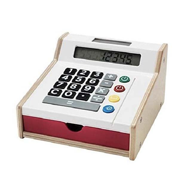 photo of a play cash register for kids