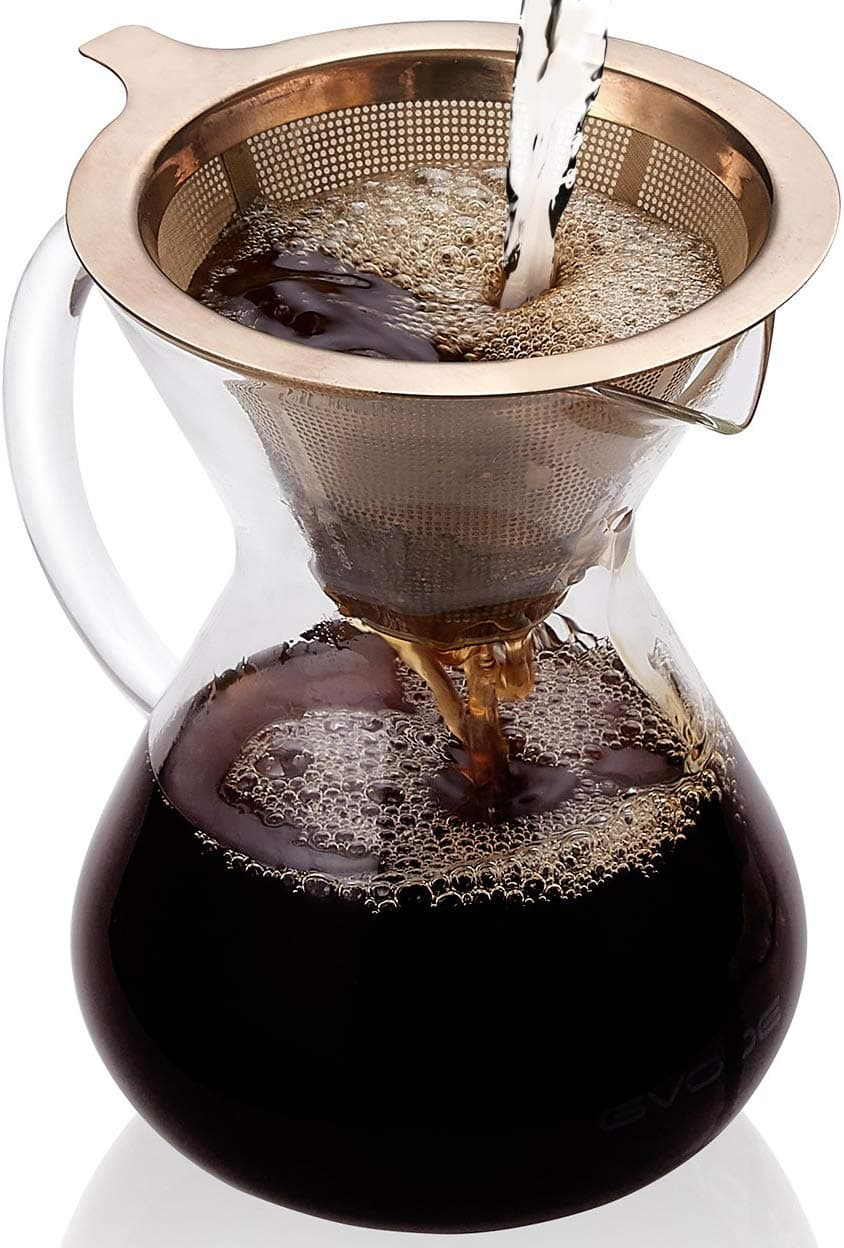 photo of a pour over coffee maker