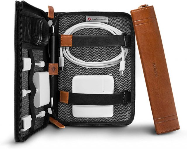 photo of a zippered cord carrying case