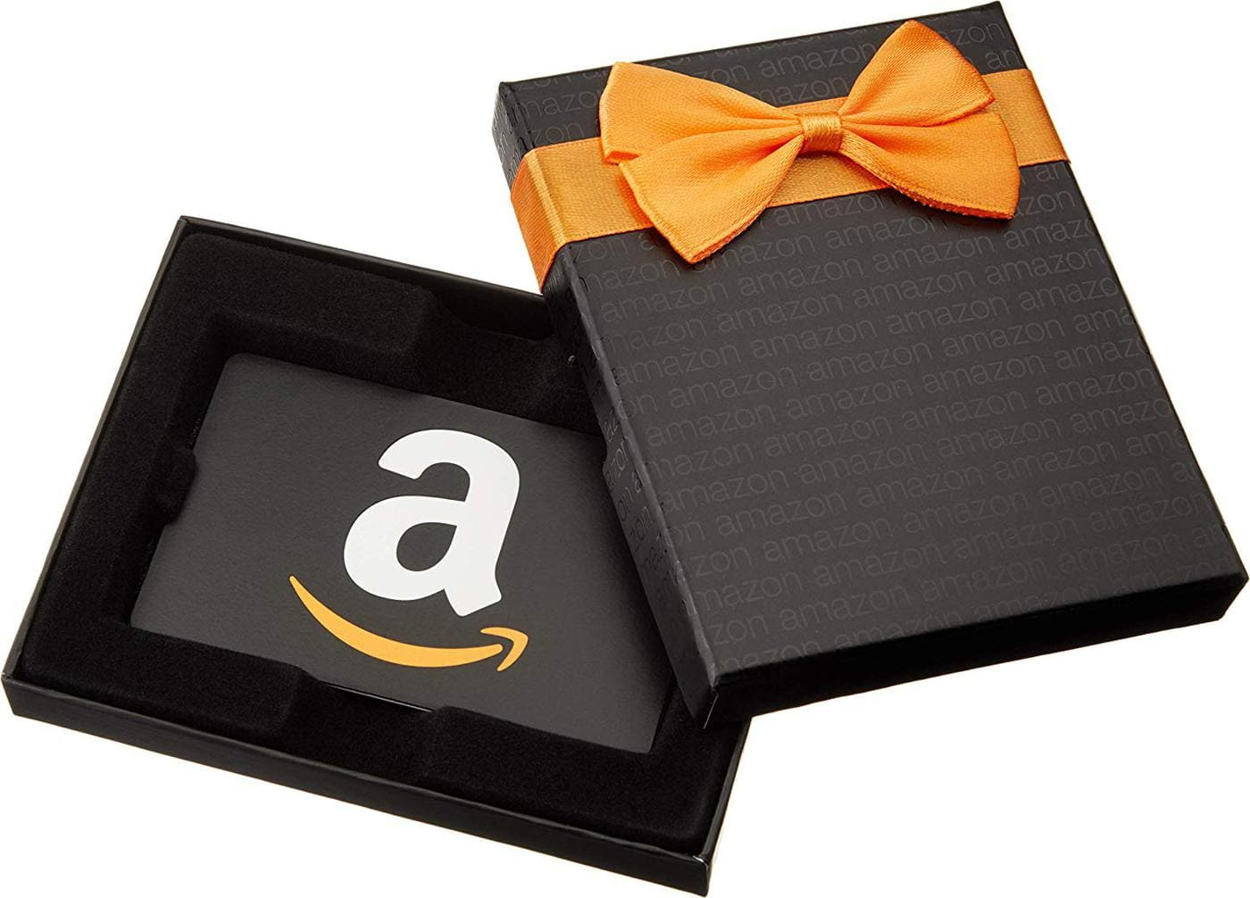 photo of amazon gift card in gift box