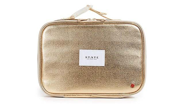 photo of gold lunch box as a gift idea for her