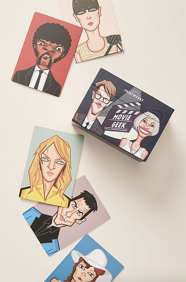 photo of cards from a film trivia game
