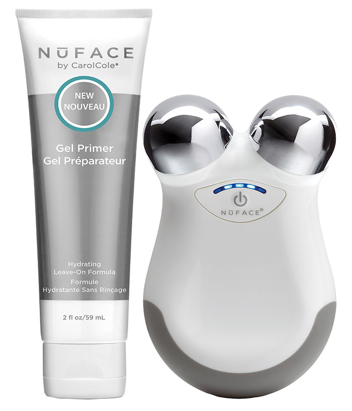 photo of nuface facial massager and cream