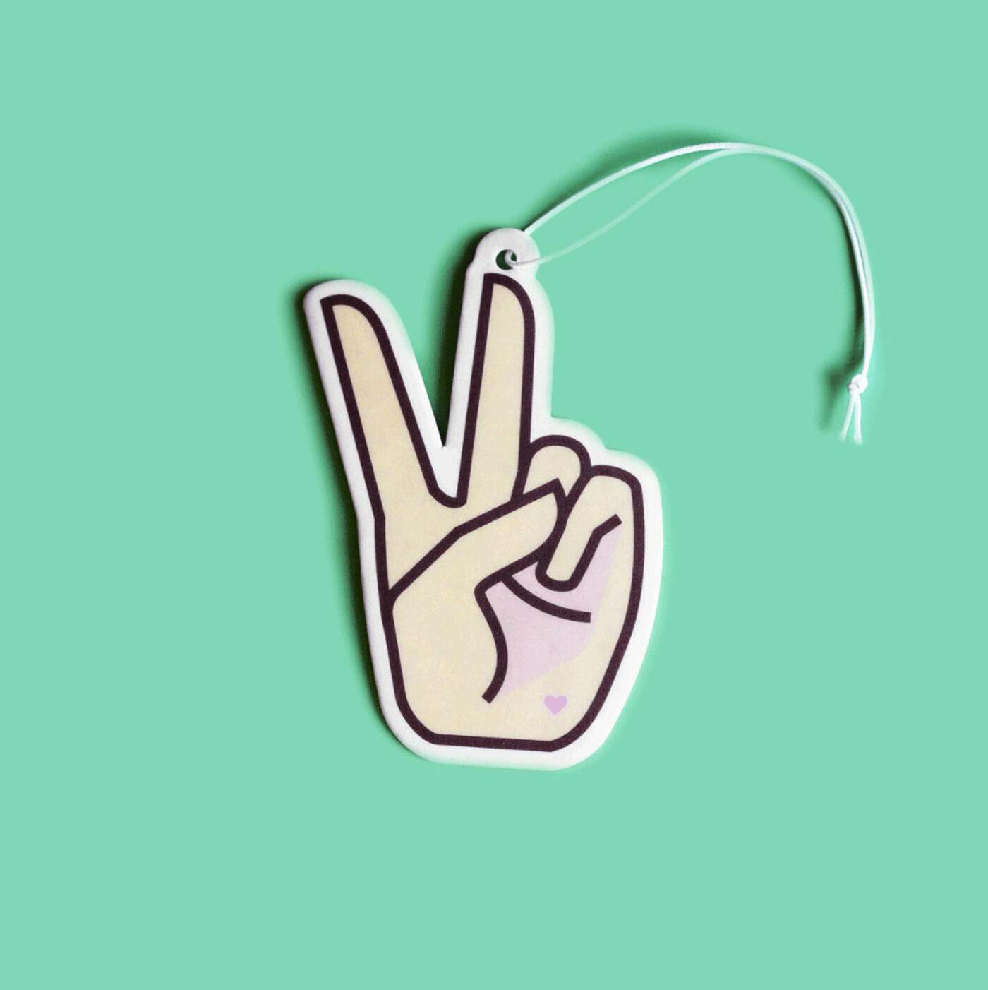 photo of peace sign air freshener
