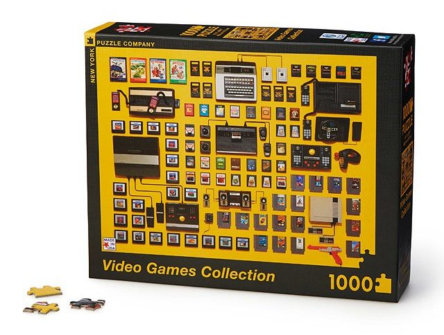a jigsaw puzzle of a photo of video games