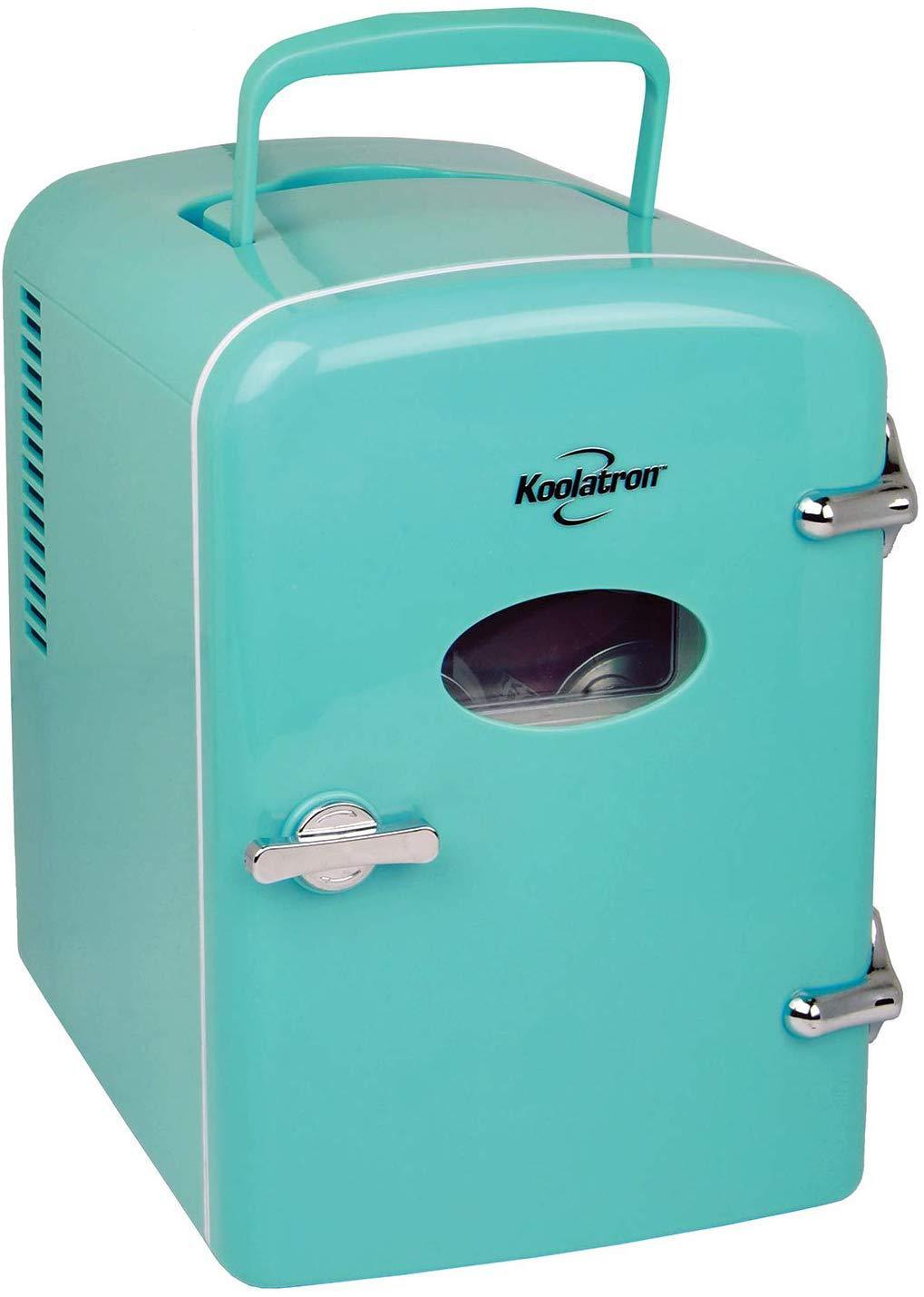 photo of retro mini fridge