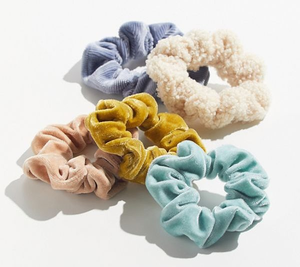 photo of set of velvet scrunchies