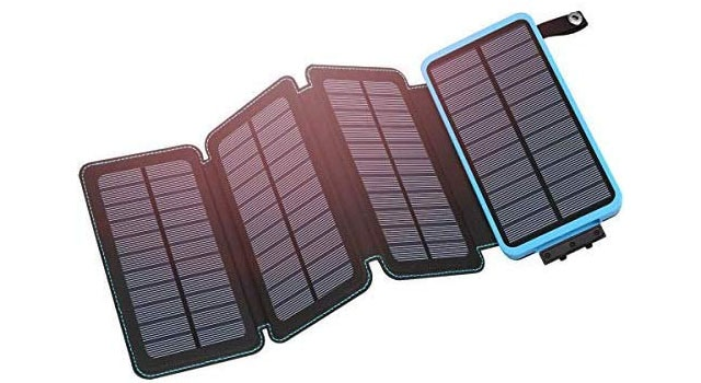photo of a solar travel charger