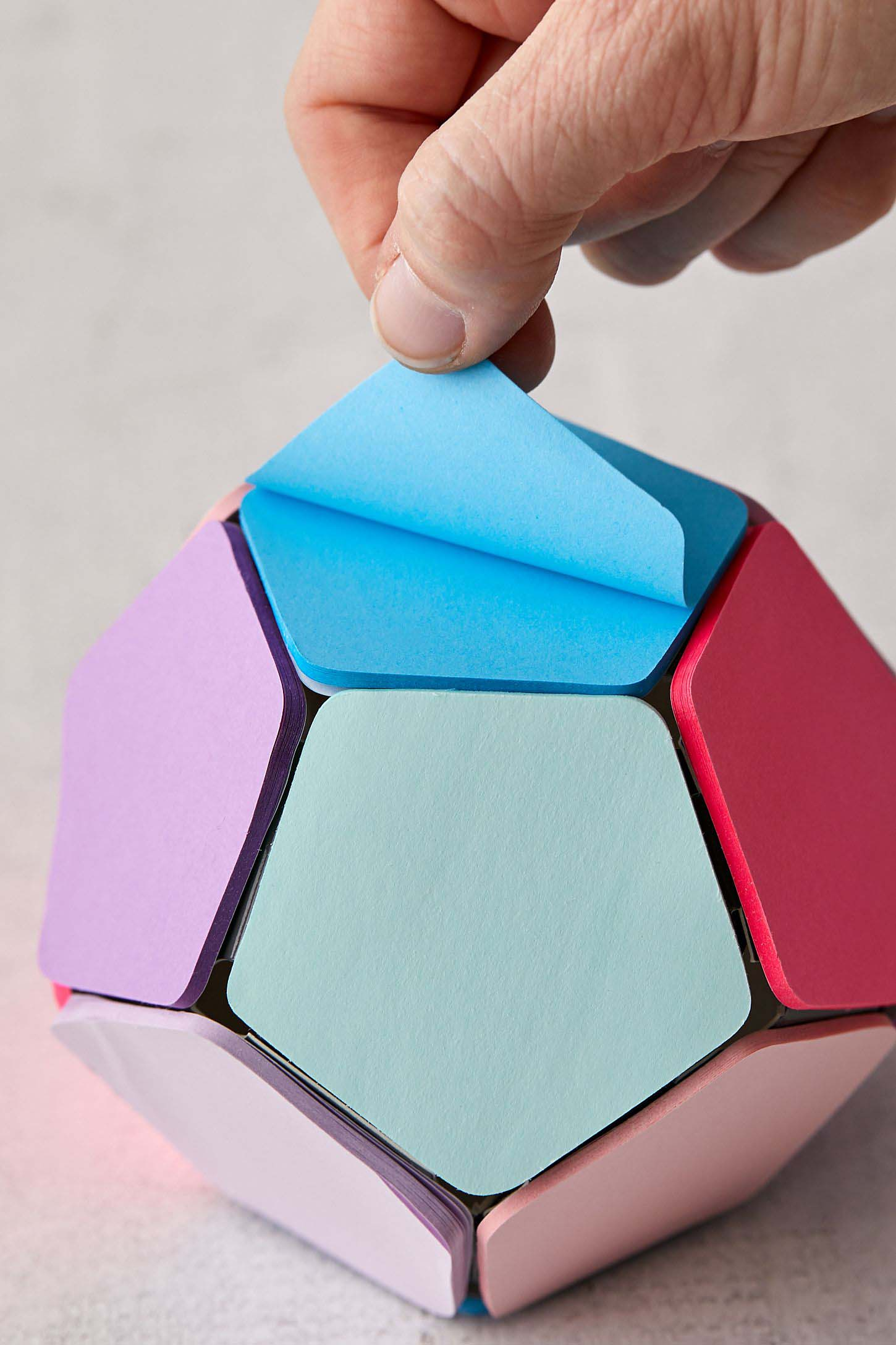 photo of sticky notepad ball