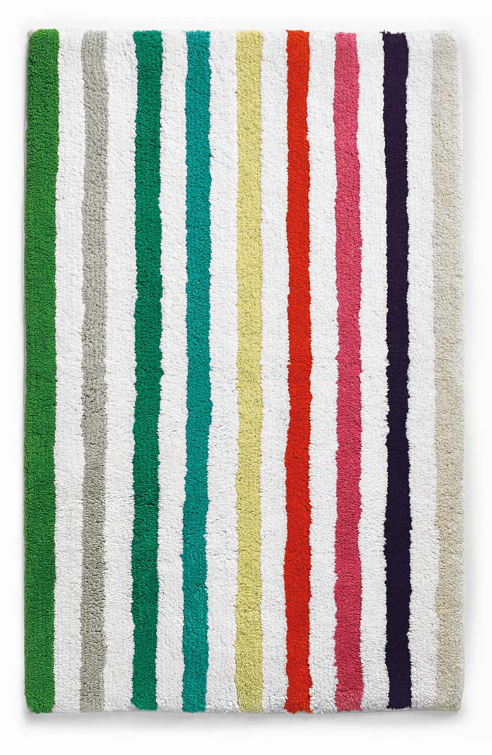 photo of striped bath mat