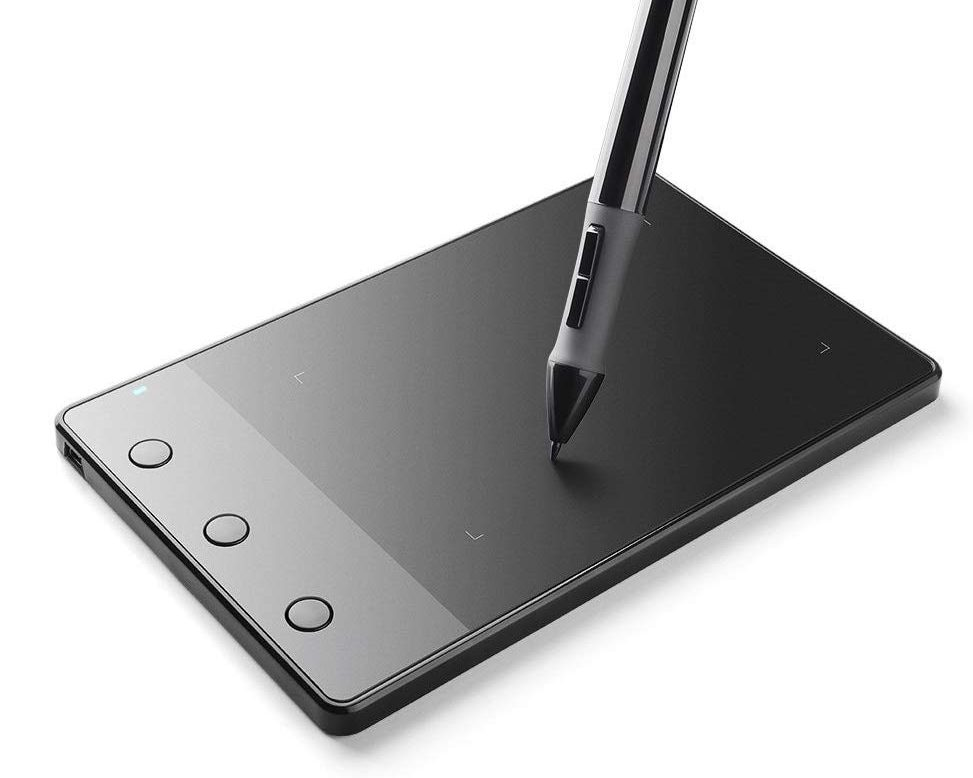 photo of a wireless drawing pad and pen