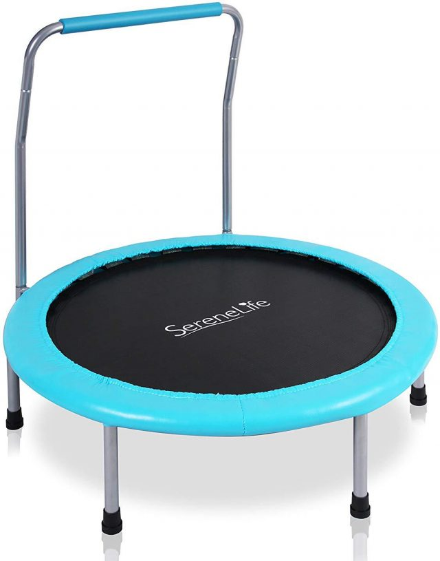photo of an indoor trampoline for kids