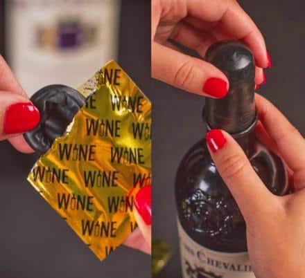 photo of a box of wine condoms white elephant gift