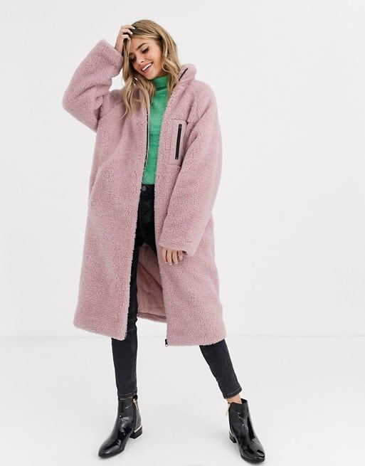 photo of ASOS pink fleece jacket on sale for Black Friday