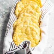 photo of the easy gluten free keto Cloud Bread Recipe by top Houston lifestyle blogger Ashley Rose of Sugar & Cloth