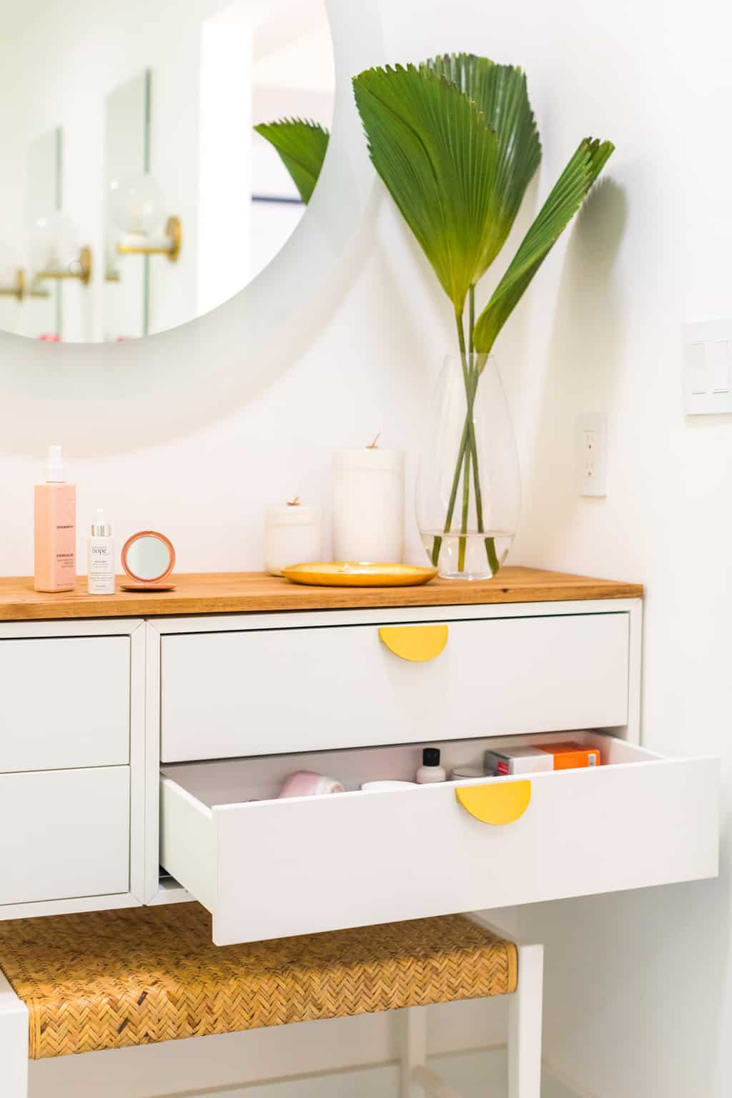 photo of an ikea hack vanity
