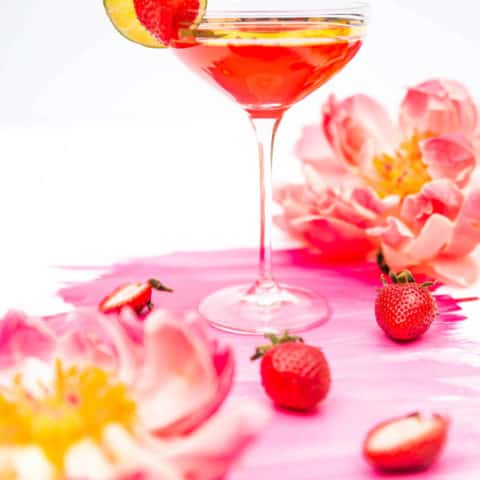 photo of the classic strawberry daiquiri by top Houston lifestyle blogger Ashley Rose of Sugar & Cloth