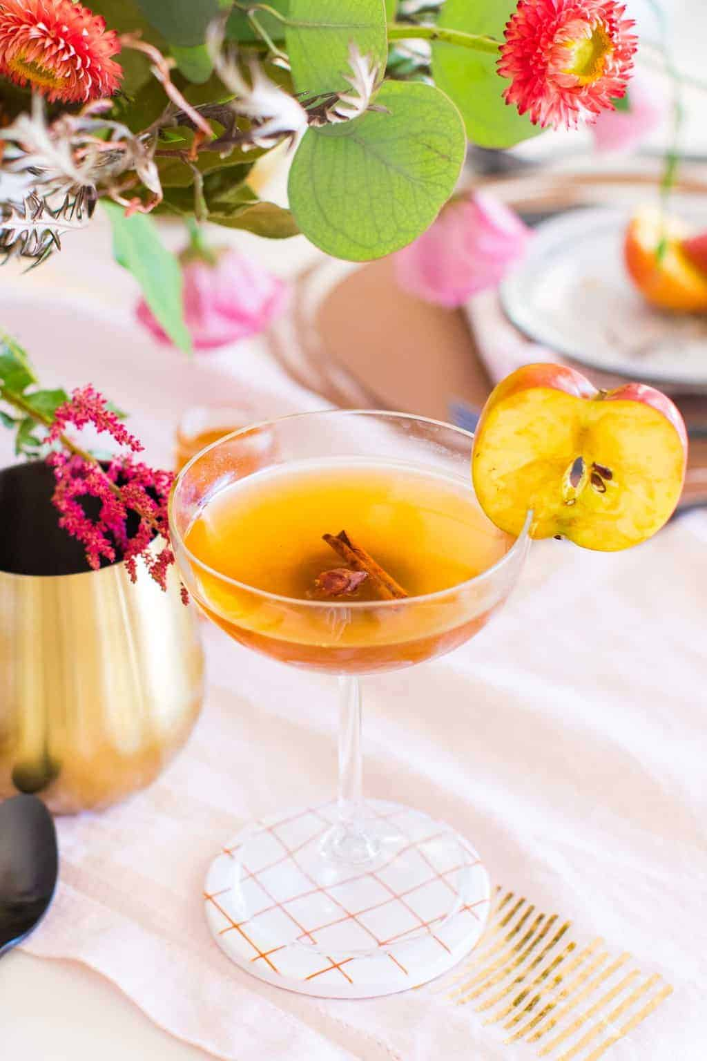 photo of the easy spiced apple cider drink by top Houston lifestyle blogger Ashley Rose of Sugar & Cloth