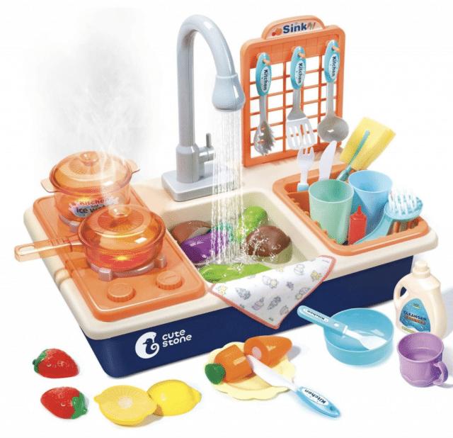 kids play kitchen sink set