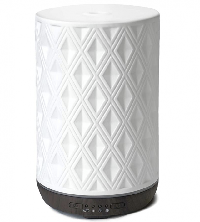 a white ceramic essential oil diffuser as a gift for women