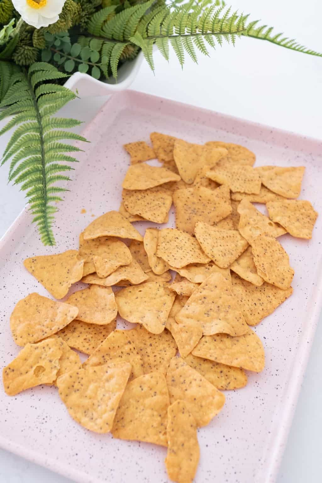photo of the first step to making sweet potato nachos by top Houston lifestyle blogger Ashley Rose of Sugar & Cloth