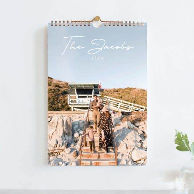 photo of a minted customized photo calendar