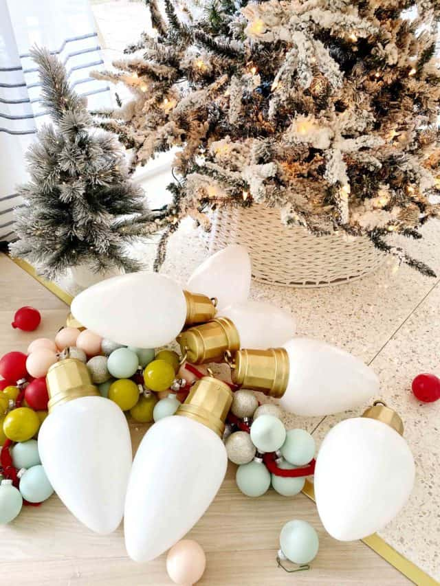 photo of jumbo white christmas bulbs decor