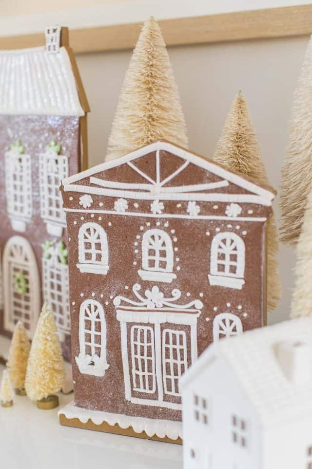 fake gingerbread house christmas decorations