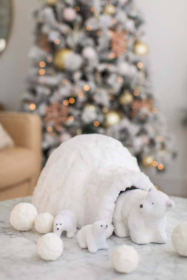 polar bear igloo christmas decorations