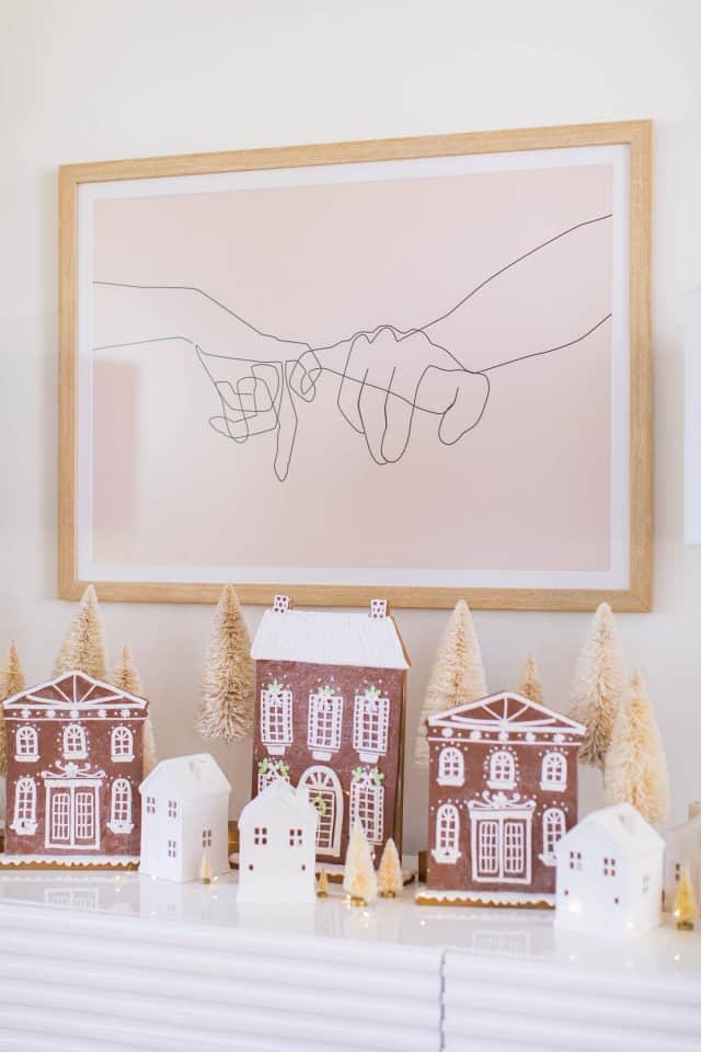 faux gingerbread house decorations