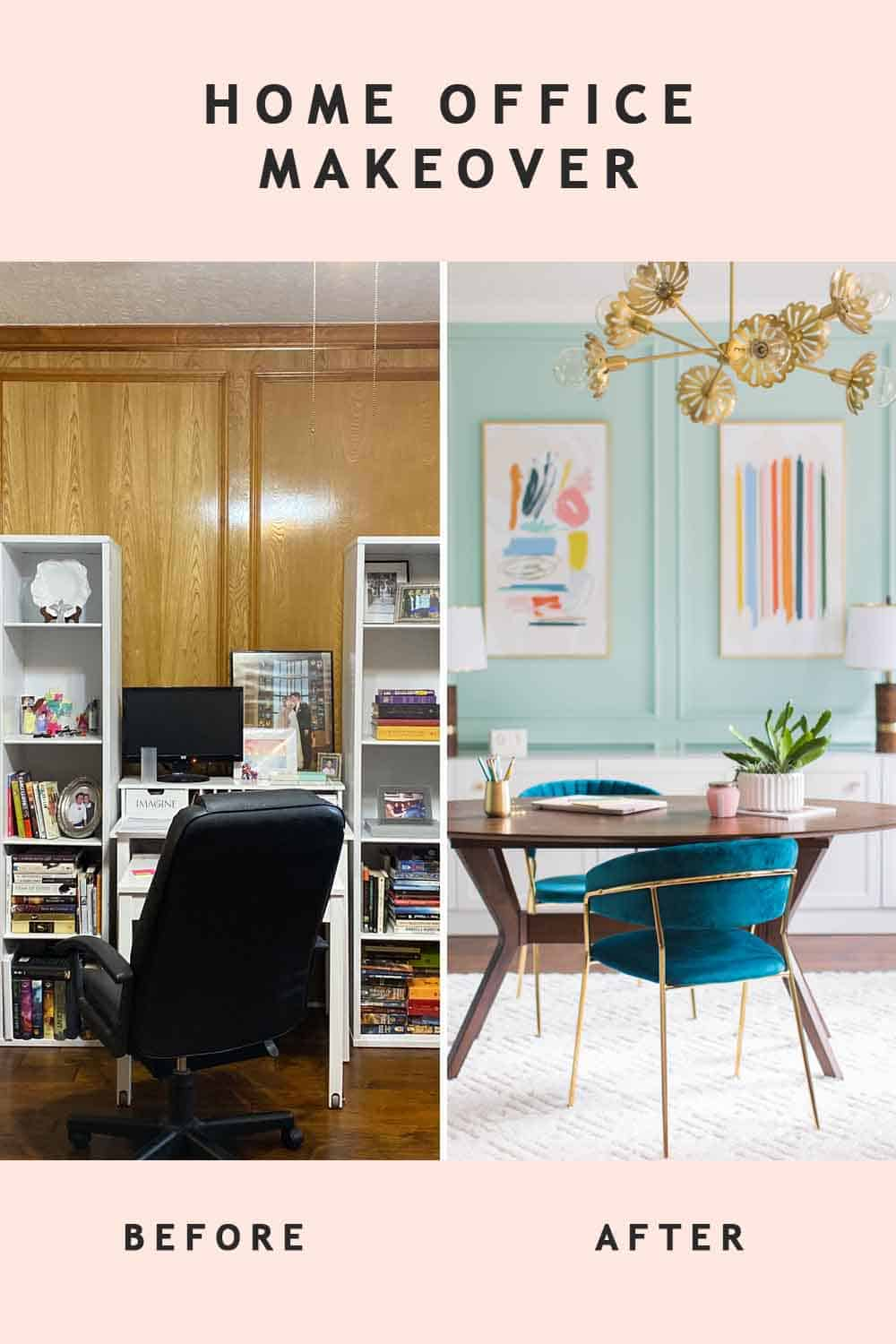 before and after office design photo