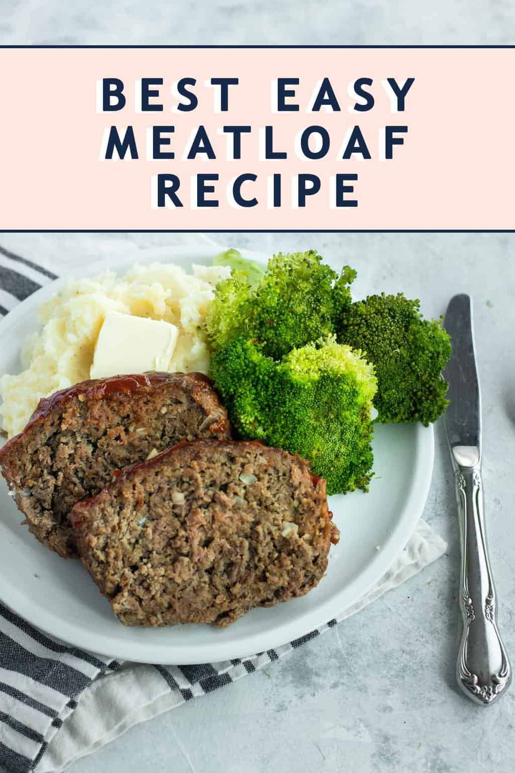photo of the recipe card for Best Easy Meatloaf by top Houston lifestyle blogger Ashley Rose of Sugar & Cloth