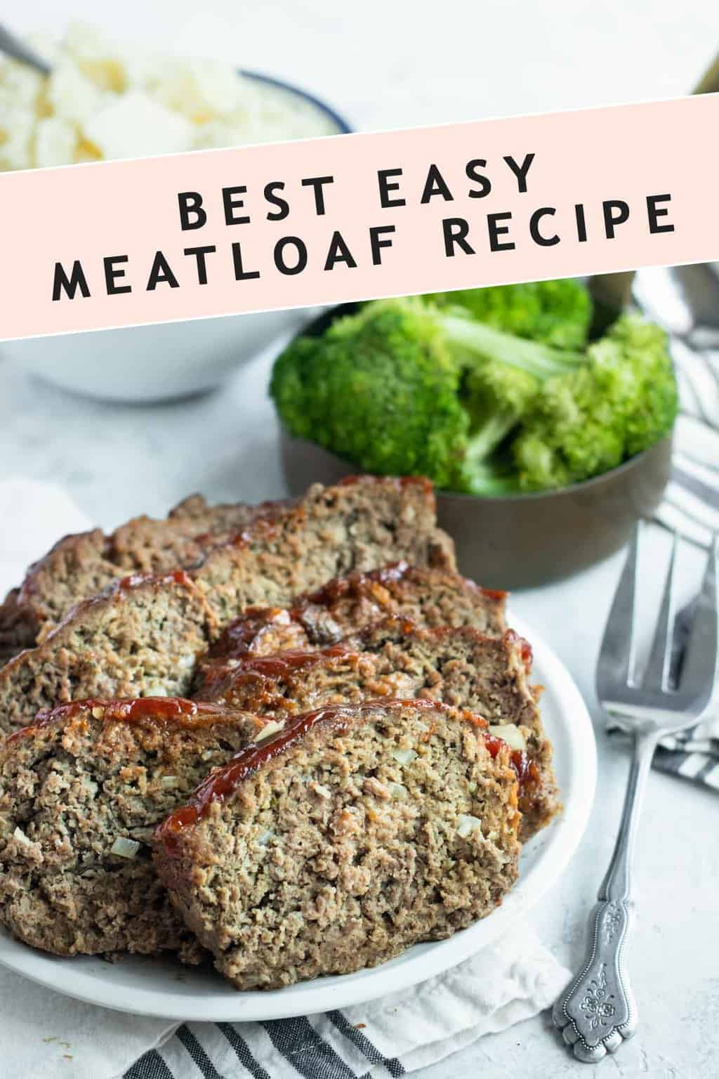 photo of the recipe card for the best easy meatloaf by top Houston lifestyle blogger Ashley Rose of Sugar & Cloth
