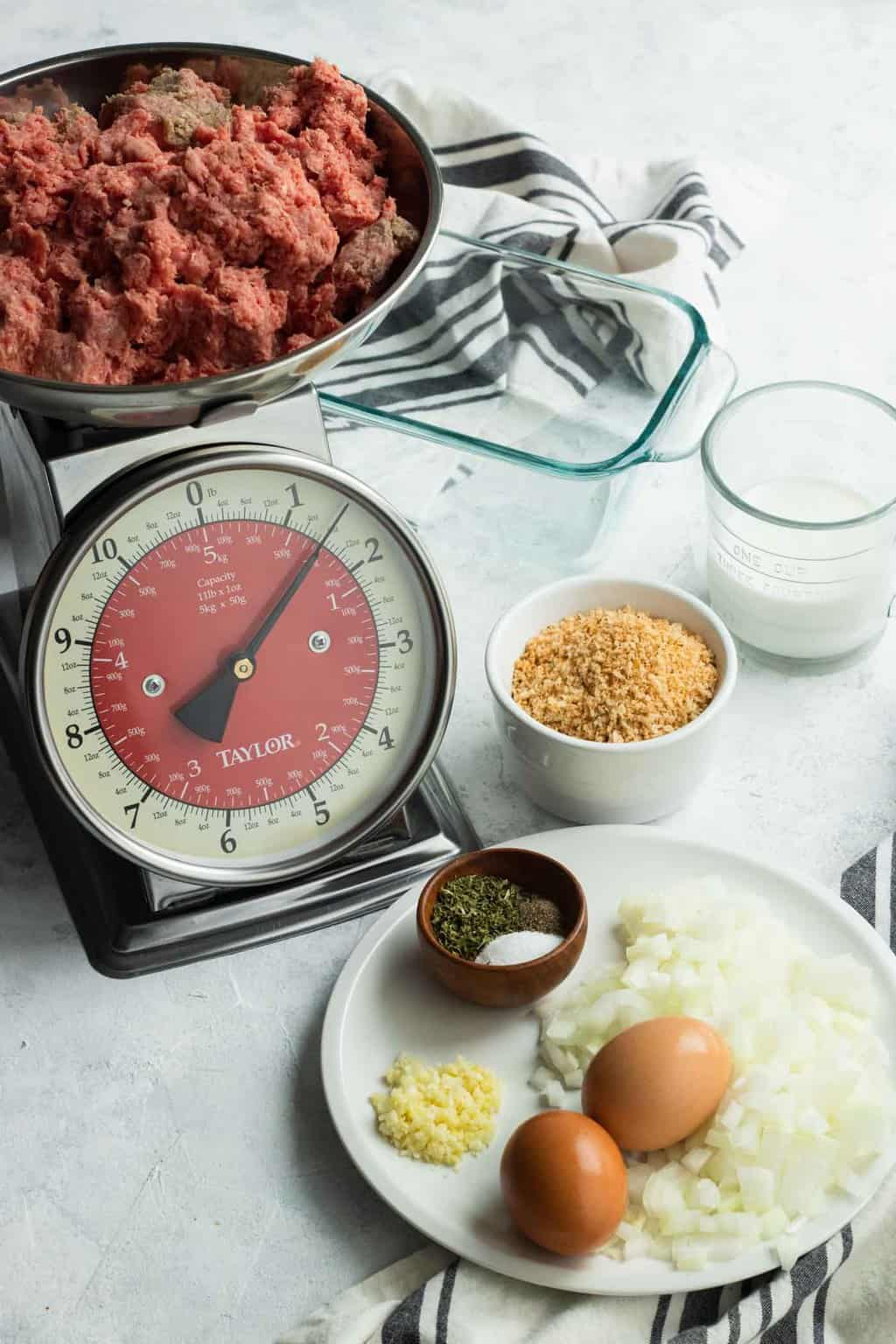 photo of all the ingredients to make the best easy meatloaf by top Houston lifestyle blogger Ashley Rose of Sugar & Cloth