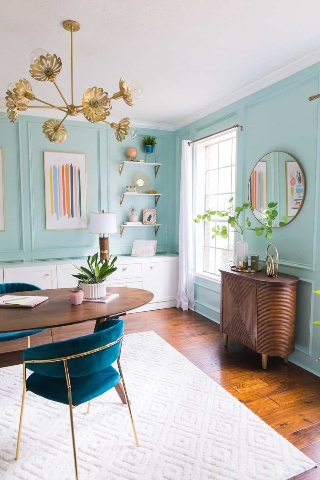 corner photo of our home office design makeover