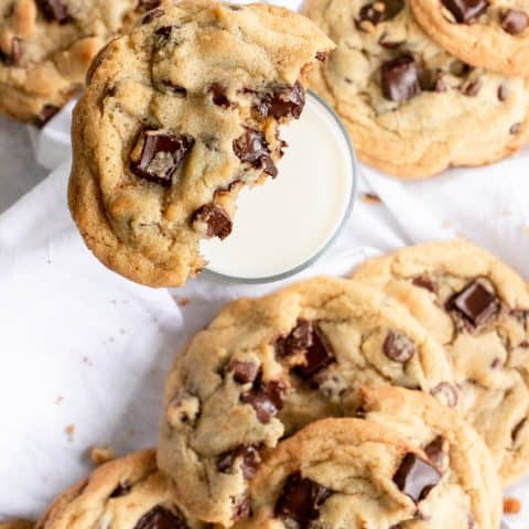 photo of a bite of the best chocolate chips