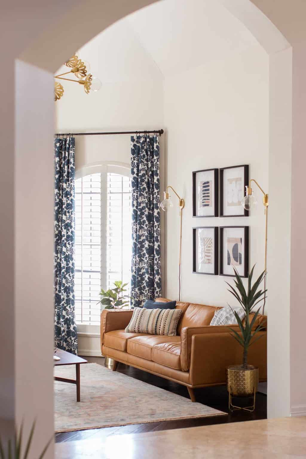 photo of how to add height to your living room by top Houston lifestyle blogger Ashley Rose of Sugar & Cloth