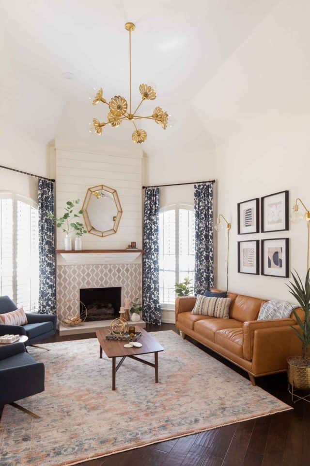 photo of how to make a modern living room still look warm and welcoming by top Houston lifestyle blogger Ashley Rose of Sugar & Cloth