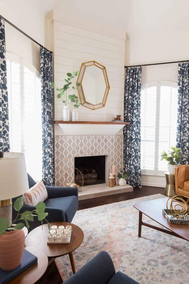 photo of the modern colors and tones in the new living room makeover by top Houston lifestyle blogger Ashley Rose of Sugar & Cloth