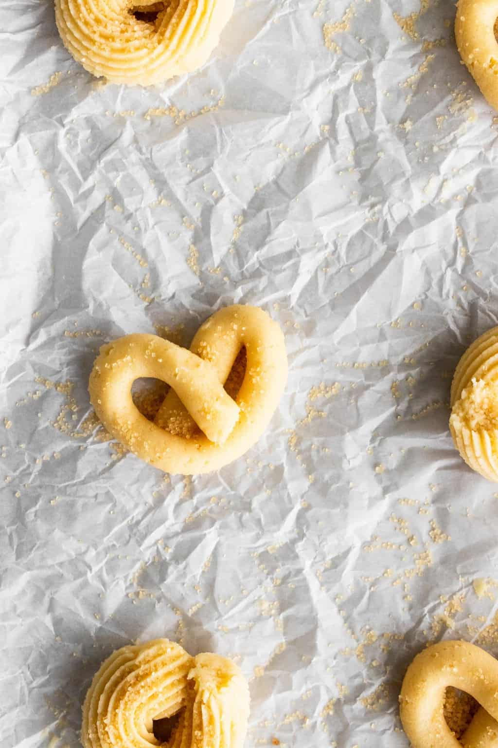photo of the easy butter cookies piped in different shapes by top Houston lifestyle blogger Ashley Rose of Sugar & Cloth