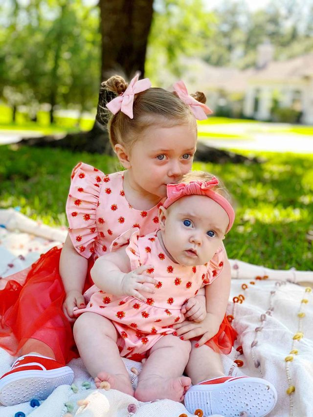 photo of two little girls on easter