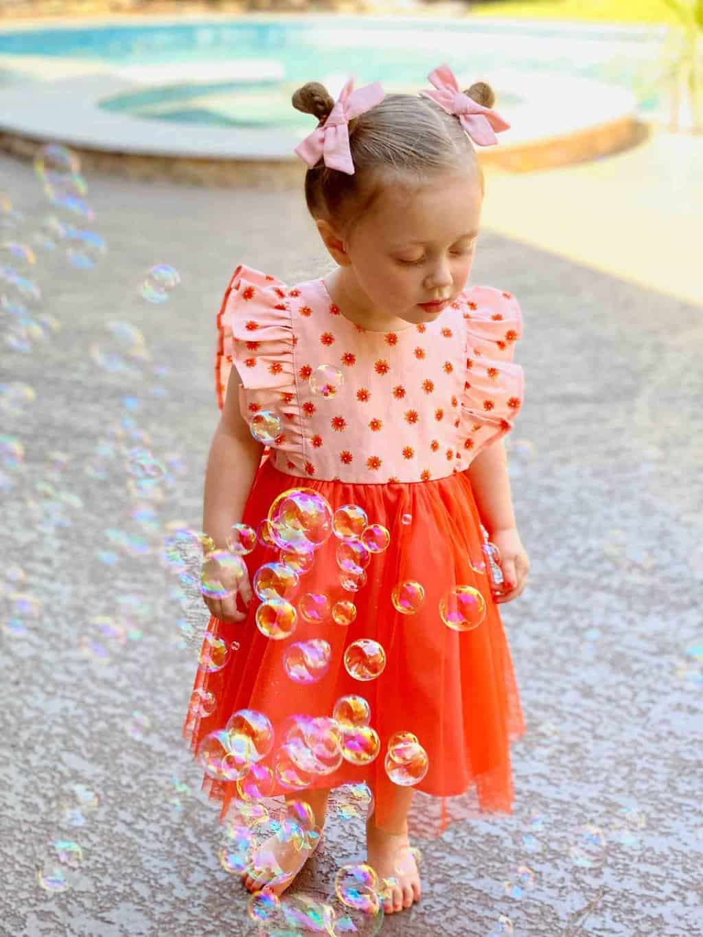 gwen with bubbles on easter