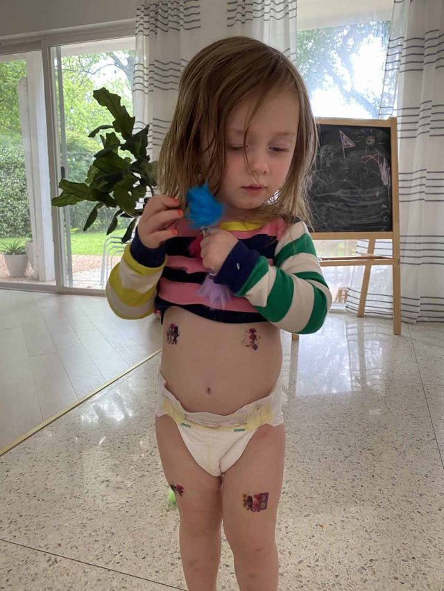 gwen with trolls tattoos on easter 2020