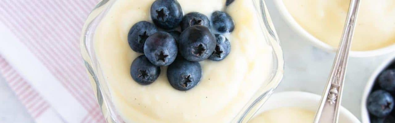 photo of how to make the best homemade vanilla pudding by top Houston lifestyle blogger Ashley Rose of Sugar & Cloth