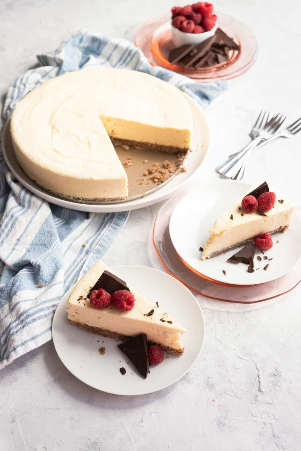 photo of an easy keto cheesecake recipe by top Houston lifestyle blogger Ashley Rose of Sugar & Cloth